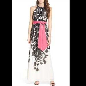 NWT Eliza J Print Halter Maxi Dress - 6